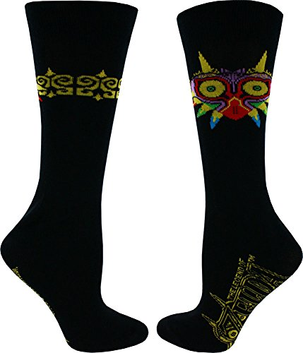 Zelda Majora's Mask Men's Black Crew Socks