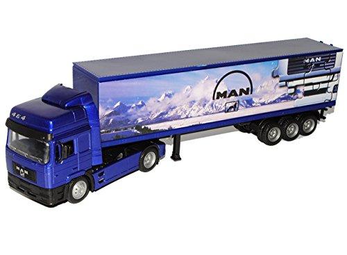 MAN F2000 40' Container Blau Truck LKW 1/43 New Ray Modell Auto mit individiuellem Wunschkennzeichen