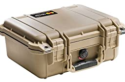 Pelican 1400 Case with Foam - Desert Tan