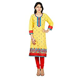 Ruzzell Yellow kurta With All Over Embroidery(RLK-77)