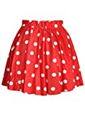 Lantomall Women's Polka Dot Pattern Comfort Short Skirt Stretch Mini Dress
