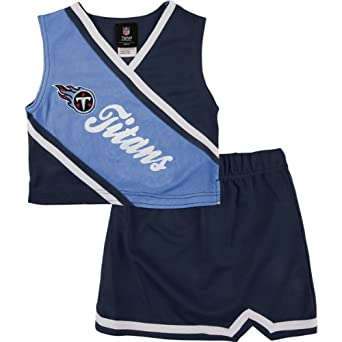 Tennessee Titans Girls 4-6x 2-Piece Cheerleader Set by Kids NFL Team Apparel
