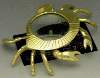 Mayer Mill Brass Crab Magnifying Glass Paper Weight