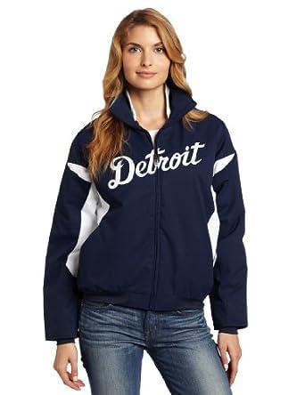 MLB Detroit Tigers Triple Peak Ladies Jacket, Navy White by Majestic