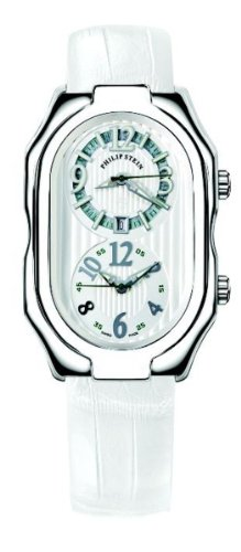 Philip Stein - 12-LW-AIRW - Montre Mixte - Quartz Analogique - Cadran Blanc - Bracelet Cuir