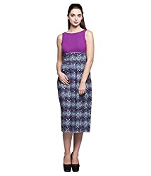 Tryfa Women's Dress (TFDRMI0000168-L-XS_Purple_X-Small)