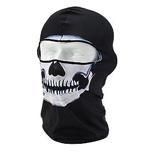 Coxeer Skull Tubular Mask Bandana Motorcycle Scarf Face Neck Warmer helmet(BW-02)