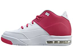 Jordan Flight Origin 3 GG Girl\'s Shoes White/Vivid Pink-White 820250-161 (7)