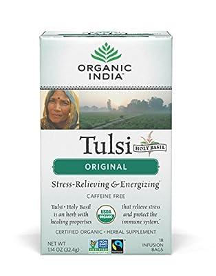Organic India Tulsi Caffeine Free Tea, 18 Count