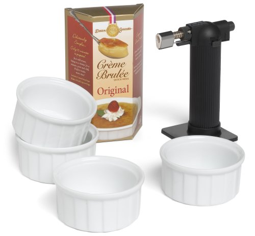 Dean Jacobs Creme Brulee Set with Torch, 4.5-Ounce Box