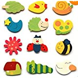 BestDealUSA Cartoon Funny Baby Toy Wooden Fridge Magnet Refrigerator Magnets Gift