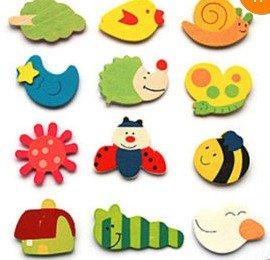 BestDealUSA Cartoon Funny Baby Toy Wooden Fridge Magnet Refrigerator Magnets Gift