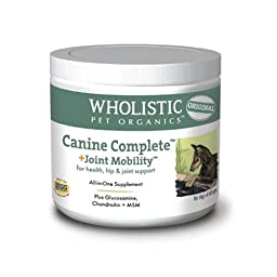 Wholistic Pet Canine Complete Joint Mobility Organic Supplement 2lb Tub
