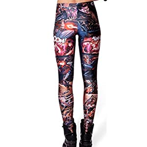 Your Gallery Womens Funny Pattern Cartoon Print Spandex Ankle Length Leggings