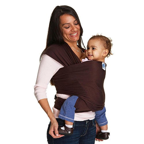 Moby Wrap Baby Carrier Chocolate front-1069057