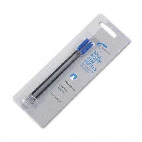 Croix : recharges pour stylo à bille Pointe Fine-Encre bleue-Lot de 2-Motif : Vendues Par lot de 2 Packs de 2-Total de-/ 4