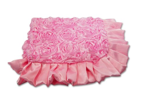 Caught Ya Lookin' Reversible Baby Blanket, Pink Roses - 1