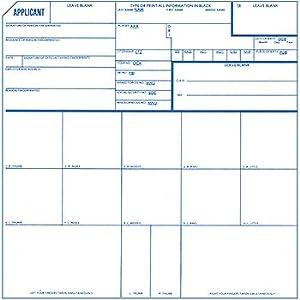 Amazon.com : Fingerprint Cards, Applicant FD-258, 50 pack : Office