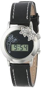 Disney Kids' TK1034A Tinker Bell Black Dial Black Strap Watch