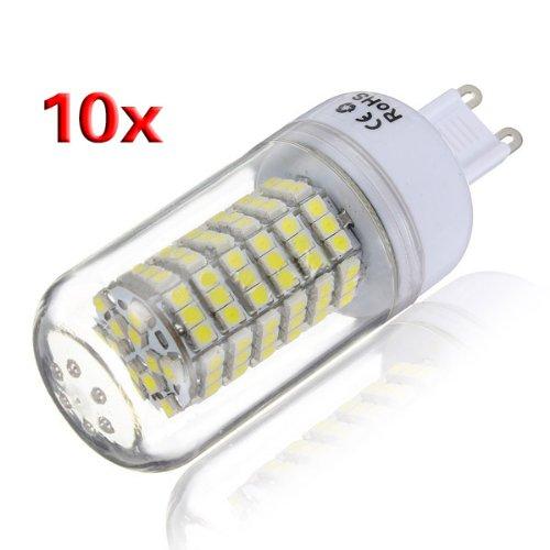 Toogoo(R) 10X G9 5W 120 Led 3528 Smd Cover Corn Spotlight Light Lamp Bulb 110-220V
