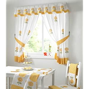 Sunflower kitchen curtains Curtains & Drapes | Bizrate