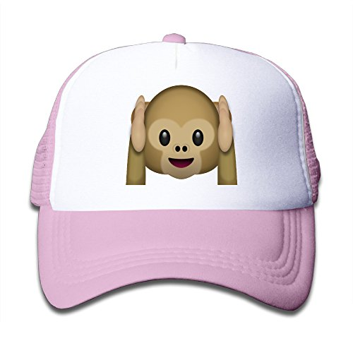 kids-emoji-monkey-hear-adjustable-snapback-mesh-hat-pink-one-size