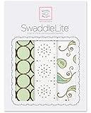 SwaddleDesigns SwaddleLite, Modern Lite, Kiwi (Set of 3)