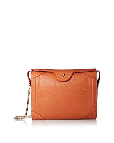 Carven Women's Grained Leather Bag, Tangerine