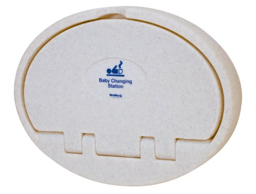 """Bradley Emergency Fixtures 9612-000000 Ivory Plastic Baby Changing Station, 34-1/16"""" Width X 25"""" Height X 3-15/16"""" Depth front-126423"""