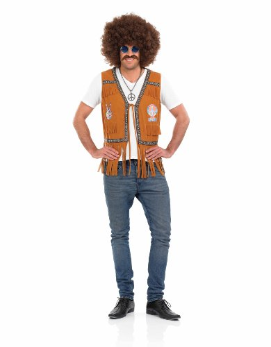 Mens Hippie Fringed Waistcoat. Three sizes from 28