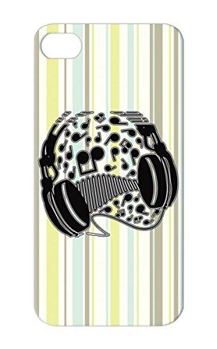 Headphones Tearproof Cover Case For Iphone 5S Black Music Miscellaneous Illustration Design Headphones Music Sound Dj Graphic Interface