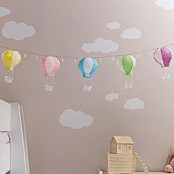 20er LED Lichterkette mit 5 Deko Heißluftballons Kinderzimmer Deko Batteriebetrieb Lights4fun