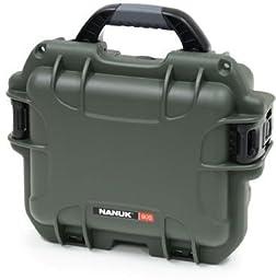 Nanuk 905 Water/Crush Proof Case w/Foam and Strap,Olive