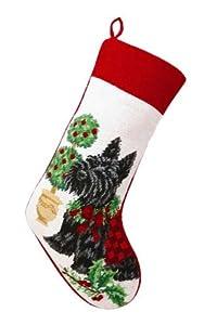 Scottish Terrier Dog Needlepoint Christmas Stocking