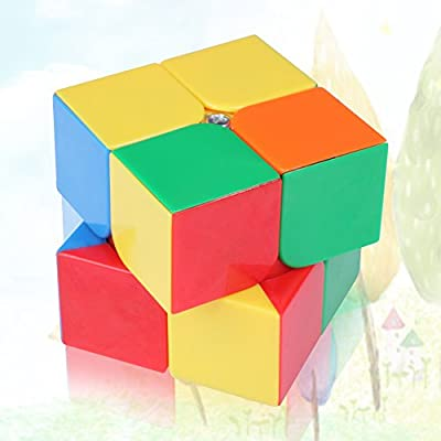 KAWO 2x2 6-Color Professional Speed Cube Puzzle Magic Cube Stickerless Children Brain Teaser & Education Cube from KAWO