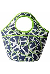 Mud Pie Anchors Aweigh Cooler Tote, Navy