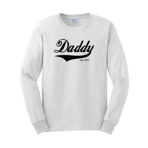Daddy Since 2013 Long Sleeve T-Shirt Medium White front-904320