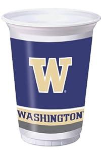 Buy Creative Converting University of Washington Huskies Printed 20 Oz. Plastic Cups (8 Count) by Creative Converting