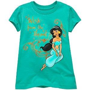 Disney Organic Short Sleeve Jasmine Tee for Girls