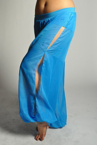 Belly Dance Genie Harem Pants - TURQUOISE