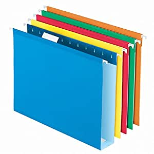Pendaflex Extra Capacity Reinforced Hanging Folders, Letter Size, Assorted Colors, 25 per Box (4152X2ASST)