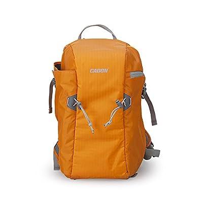 CADEN Anti-Theft Nylon Camera Backpack SLR DSLR Digital Camera Shoulder Bag Outdoor Travel Backpack- (Bright Orange)