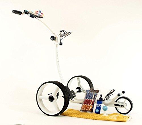 Yorrx® Slim Lion Pro 5 PLUS (weiß/white) Golftrolley/Golfwagen/Golf Cart + AKTION: REGENSCHIRMHALTER GRATIS
