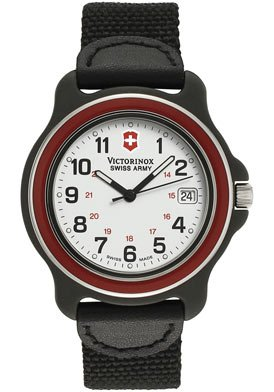 Victorinox Swiss Army Men&#8217;s Original Leather Accented Watch #24221