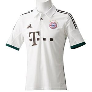 adidas Herren Kurzärmliges Fußballtrikot Fc Bayern Away Jersey, Running White/Mustang Bro, XL, Z25686