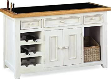 Minack Oak Granite Top Kitchen Island