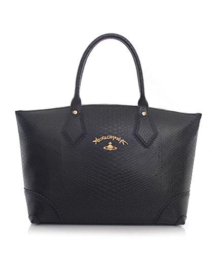 Vivienne Westwood Accessories Borsa Shopper frilly serpente Nero Unica Taglia