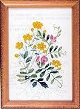 フランス刺繍キット No78 からすのえんどうときじむしろ(15cm×11cm)