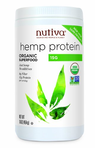 Nutiva Organic Hemp Protein 15 g, 16-Ounce Container