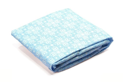 Bloom Alma Papa Fitted Sheet, Lollipop Bermuda Blue